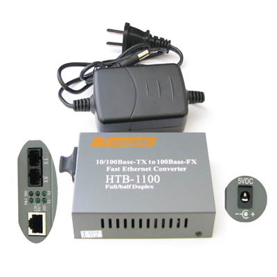 Ethernet Fibre on Fast Ethernet Fiber Optic Single Mode Converter   Sintech Adapter